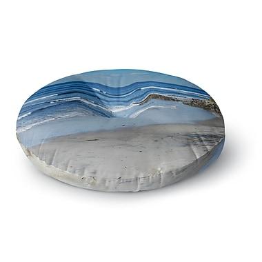 East Urban Home Nick Nareshni 'Swamis Beach Coast' Coastal Round Floor Pillow; 26'' x 26''