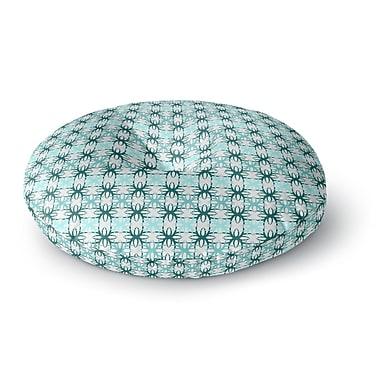 East Urban Home Nandita Singh 'Blue Motifs' Geometric Round Floor Pillow; 23'' x 23''