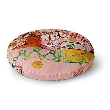 East Urban Home Marianna Tankelevich 'Happy Town' Round Floor Pillow; 26'' x 26''