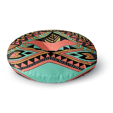 East Urban Home Pom Graphic Design 'PeruNative' Round Floor Pillow; 26'' x 26''