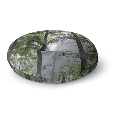 East Urban Home Rosie Brown 'Morning Fog' Photography Round Floor Pillow; 26'' x 26''