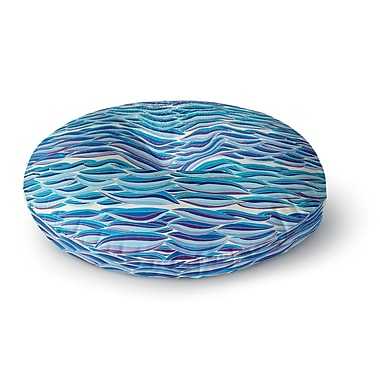 East Urban Home Pom Graphic Design 'The High Sea' Round Floor Pillow; 26'' x 26''