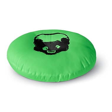 East Urban Home BarmalisiRTB 'Black Panda' Digital Round Floor Pillow; 23'' x 23''