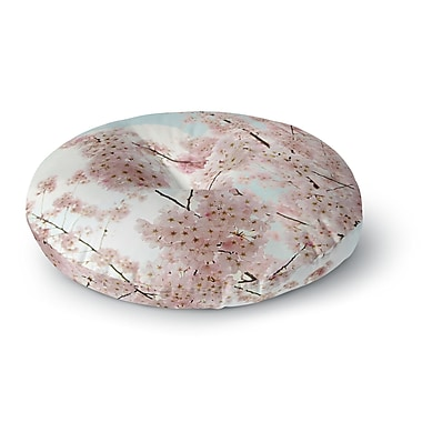 East Urban Home Sylvia Cook 'Spring Beauty' Round Floor Pillow; 26'' x 26''