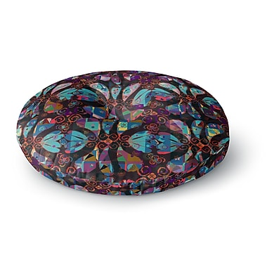 East Urban Home Suzanne Carter 'Pattern' Abstract Round Floor Pillow; 23'' x 23''