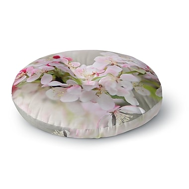 East Urban Home Sylvia Cook 'April Flowers' Round Floor Pillow; 23'' x 23''