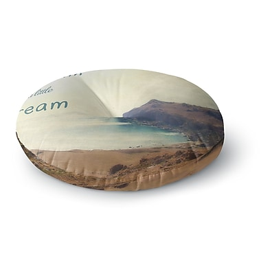 East Urban Home Sylvia Coomes 'Dream a Little Dream' Photography Round Floor Pillow; 26'' x 26''