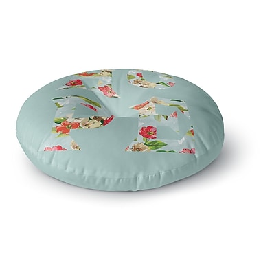 East Urban Home Suzanne Carter 'Hope' Floral Round Floor Pillow; 26'' x 26''
