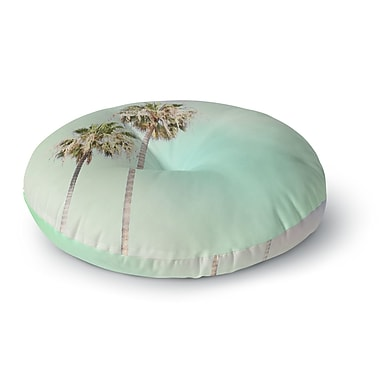 East Urban Home Sylvia Coomes 'Pastel Palm Trees' Photography Round Floor Pillow; 26'' x 26''