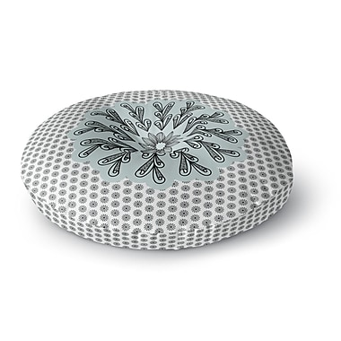 East Urban Home Shirlei Patricia Muniz 'My Flower' Abstract Round Floor Pillow; 23'' x 23''