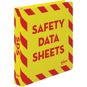 "Avery Safety Data Sheets Binder, 1 1/2"" Binder Capacity, Letter, 400 Sheet Capacity, Ring Fastener, Internal Pocket, Red"