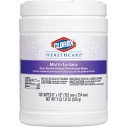 "Clorox Healthcare Quat Alcohol Cleaner Disinfectant Wipes, Wipe, 6"" Width x 10"" Length, 12/CT"