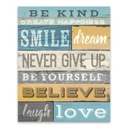 Artissimo Be Kind, Gallery Wrapped Canvas, 16W x 20H x 1.25D Wall Art