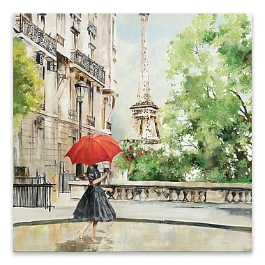 Artissimo Paris Walk, Gallery Wrapped Canvas, 27W x 27H x 1.25D Wall Art