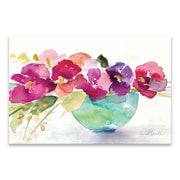 Artissimo Bowl of Blooms, Gallery Wrapped Canvas, 36W x 24H x 1.25D Wall Art