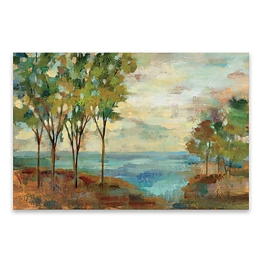 Artissimo Designs – Toile galerie « View of the Lake », 36 larg. x 24 haut. x 1,25 prof. (po)