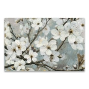 Artissimo Cherry Blossoms I Blue, Gallery Wrapped Canvas, 36W x 24H x 1.25D Wall Art