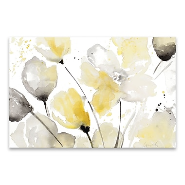 Artissimo Neutral Abstract Floral II, Gallery Wrapped Canvas, 36W x 24H x 1.25D Wall Art