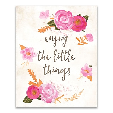 Artissimo Enjoy the Little Things, Gallery Wrapped Canvas, 16W x 20H x 1.25D Wall Art