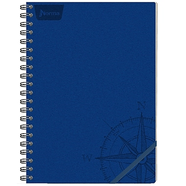 Norma – Cahier de notes en cuir, 8,25 x 11 po, bleu, 240 pages, 2/paquet (550151)