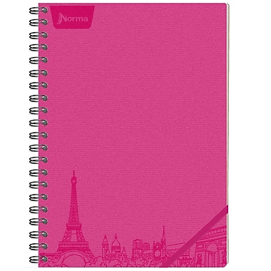 Norma – Cahier de notes en cuir, 8,25 x 11 po, rose, 240 pages, 2/paquet (550150)