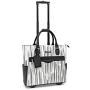"Cabrelli & Co Sylvie Silver 17"" Rolling Laptop Bag Black/White (717007  BWT)"