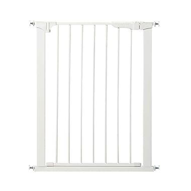 KidCo – Haute et large barrière à pression à fermeture automatique Gateway de 47,5 po, blanc