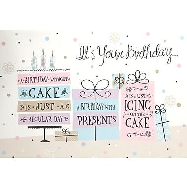 Rosedale – Cartes de souhaits et enveloppes, « It's Your Birthday », 5 1/2 x 8 po, 12/paquet (15741)