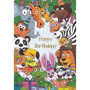 Rosedale – Cartes de souhaits et enveloppes pour enfant, Happy Birthday, 5 1/2 x 8 po, 12/paquet (15909)
