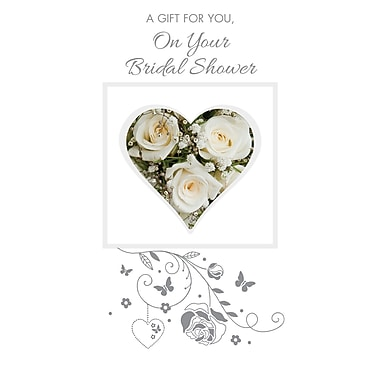 Rosedale – Cartes de souhaits et enveloppes, porte-billet, Bridal Shower, 3 3/4 x 7 1/4 po, 12/paquet (16605)