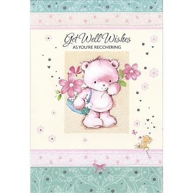 Rosedale – Cartes de souhaits et enveloppes « Get Well As You're Recovering » 5 1/2 x 8 (po) 12/paquet (17231)