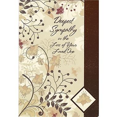 Rosedale – Cartes de sympathie et enveloppes, Loss of Loved One, 5 1/2 x 8 po, 12/paquet (17541)