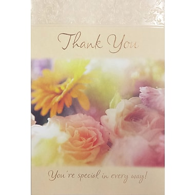 Rosedale – Cartes de souhaits et enveloppes, Thank You You're Special In Every Way!, 5 1/2 x 8 po, 12/paquet (17738)