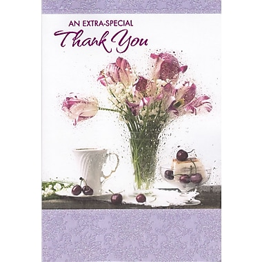 Rosedale – Cartes de souhaits et enveloppes, An Extra-Special Thank You, 5 1/2 x 8 po, 12/paquet (17742)