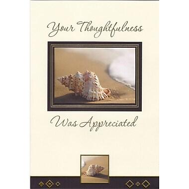 Rosedale – Cartes de souhaits et enveloppes masculines, remerciement de prévenances, 5 1/2 x 8 po, 12/paquet (17771)