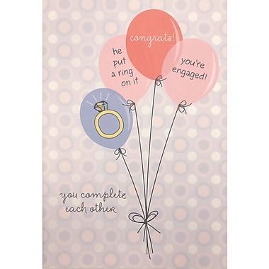 Rosedale – Cartes de souhaits et enveloppes, fiançailles, 5 1/2 x 8 (po) 12/paquet (18001)