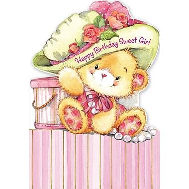 Millbrook Studios – Cartes de souhaits et enveloppes, Happy Birthday Sweet Girl, 5 3/8 x 7 3/4 po, 18/paquet (06066)