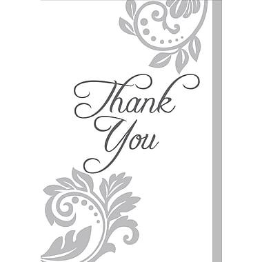 Millbrook Studios – Cartes de souhaits et enveloppes, Thank You, 5 3/8 x 7 3/4 po, 18/paquet (06816)