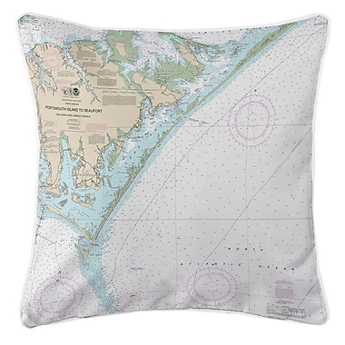 Longshore Tides Ellisburg Portsmouth Island to Beaufort NC Throw Pillow