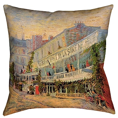 Red Barrel Studio Bristol Woods Restaurant de la Sirene Square Pillow Cover; 26'' x 26''