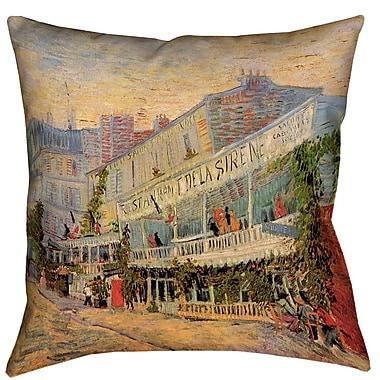 Red Barrel Studio Bristol Woods Restaurant de la Sirene Pillow Cover; 18'' x 18''