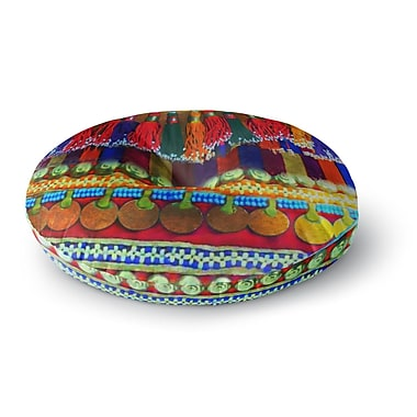 East Urban Home S Seema Z 'BOHO MANIA' Ethnic Round Floor Pillow; 23'' x 23''