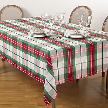 Saro Vernor Tablecloth; 84'' W x 70'' D