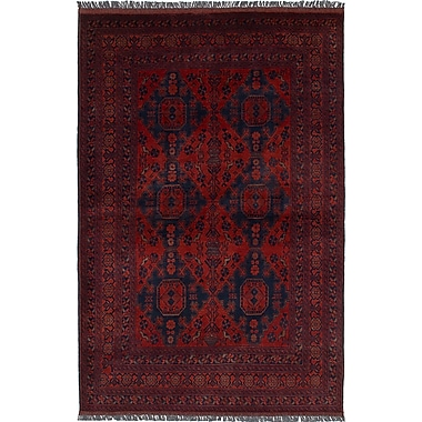World Menagerie Bouldercombe Traditional Hand-Knotted Red Area Rug