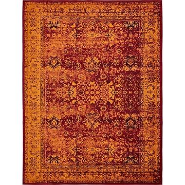 Bungalow Rose Yareli Red/Orange Area Rug; 10' x 13'