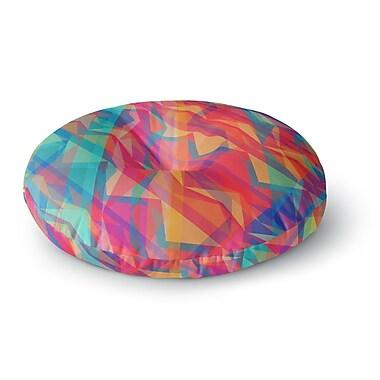 East Urban Home Miranda Mol 'Triangle Opticals' Round Floor Pillow; 26'' x 26''