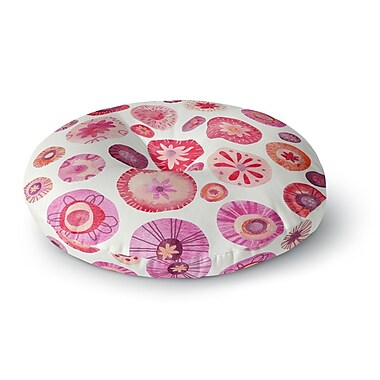 East Urban Home Nic Squirrell 'All the Flowers' Round Floor Pillow; 26'' x 26''