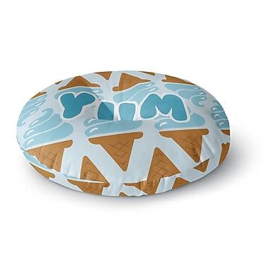 East Urban Home 'Yum!' Ice Cream Round Floor Pillow; 26'' x 26''