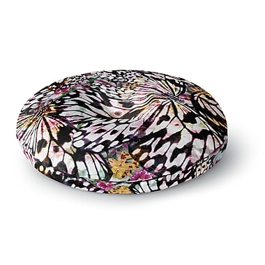 East Urban Home Louise Machado 'Butterfly Wings' Round Floor Pillow; 23'' x 23''