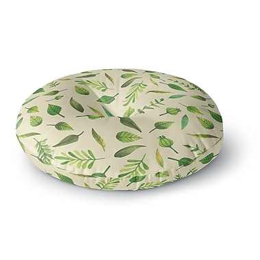 East Urban Home 'I Be-Leaf in You' Round Floor Pillow; 26'' x 26''